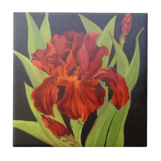 VooDoo Flame Red Iris Tile