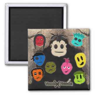 Voodoo Heads ~ Cave Square Magnet