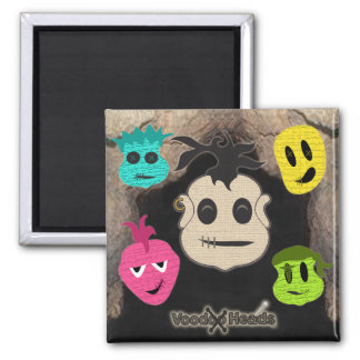 Voodoo Heads Cave Magnets