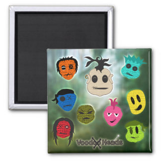 Voodoo Heads ~ Swamp Square Magnet