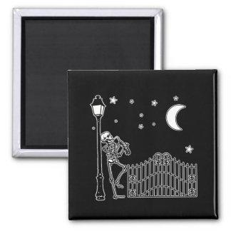 Voodoo Jazz Saxophone Player Square Magnet