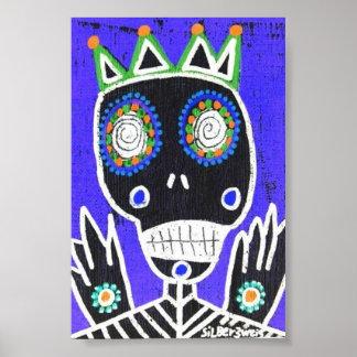 Voodoo King Sugar Skull Poster