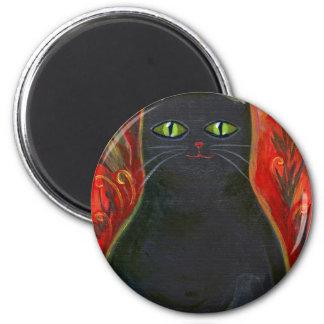 Voodoo Kitty 6 Cm Round Magnet