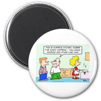 voodoo magic kitchen 6 cm round magnet
