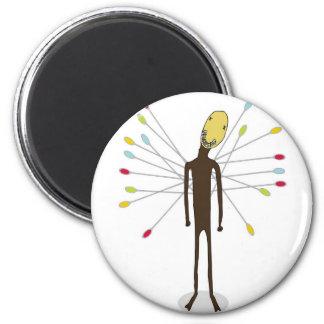 voodoo_magnet 6 cm round magnet
