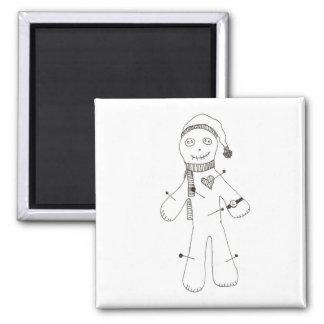 Voodoo Pincushion Square Magnet