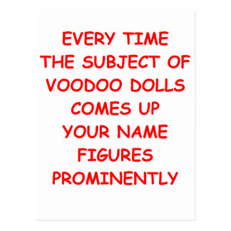 voodoo postcard