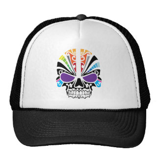 Voodoo Rainbow Skull Hat