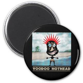 VooDoo Red Head 6 Cm Round Magnet