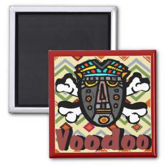 Voodoo  Spell Mask Square Magnet