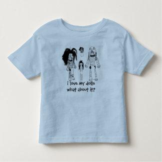 Voodoo Toddler T-Shirt, Blue i love my dolls Shirts