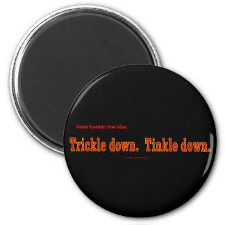 voodoo-trickleRedOnBlack 6 Cm Round Magnet
