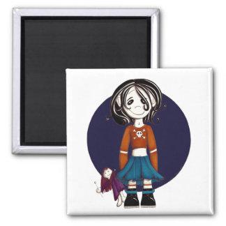 voodoo zombie square magnet