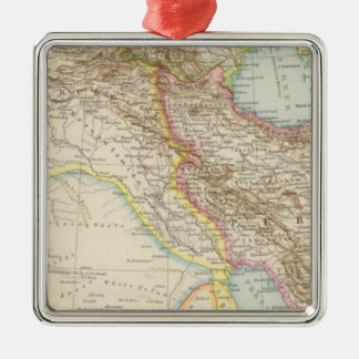 Vorderasien, Persien - Asia Minor and Persia Map Christmas Ornament