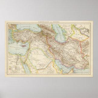 Vorderasien, Persien - Asia Minor and Persia Map Poster