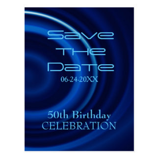 Vortex 50th Birthday Save the Date - Postcard