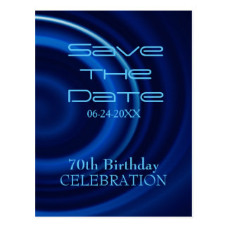 Vortex 70th Birthday Save the Date Postcard