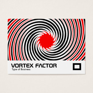 Vortex Factor - Red Business Card