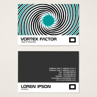Vortex Factor - Teal Business Card