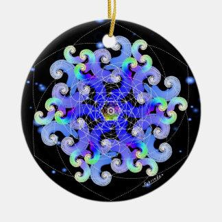 Vortex of Vitality/Feeling Free Round Ceramic Decoration