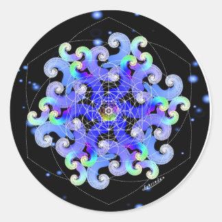 Vortex of Vitality Round Sticker