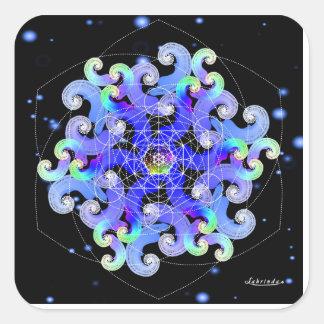 Vortex of Vitality Square Sticker