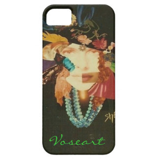 Voseart Woman on Black iPhone 5 Cover
