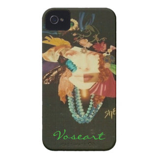Voseart Woman on Black iPhone 4 Case-Mate Cases