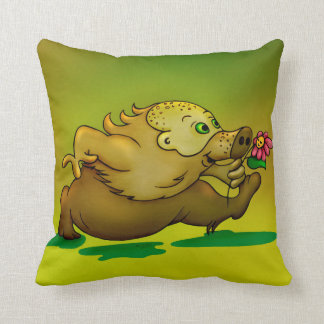 VOSKAR ALIEN CUTE THROW PILLOW 16 X 16