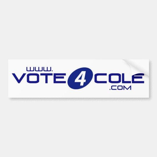 Vote4Cole Bumper Sticker