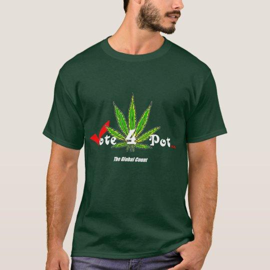 Vote4Pot Black T-Shirt