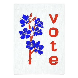 VOTE 2012 13 CM X 18 CM INVITATION CARD