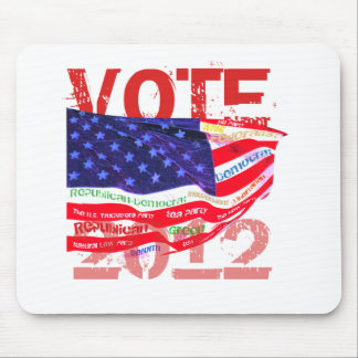 Vote 2012 T-shirts gifts Mousepads
