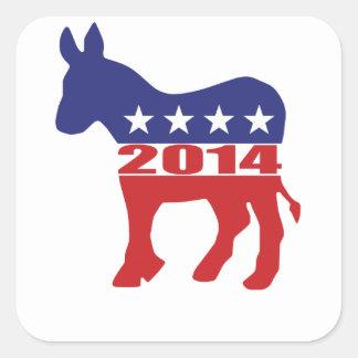 Vote 2014 Democratic Party Square Sticker