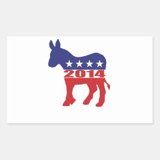 Vote 2014 Democratic Party Rectangle Sticker