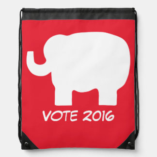 Vote 2016 Election Republican Red Elephant Custom Backpacks