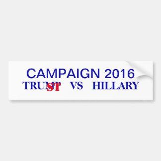 Vote 2016 Trump vs Hillary Election Campaign Bumper Sticker