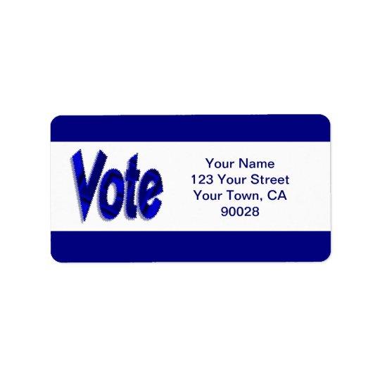 vote address label