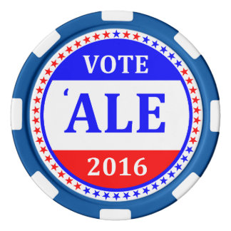 VOTE ALE (Hillary Clinton 2016) poker chips