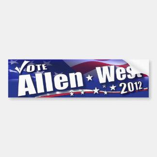 Vote Allen West for President - 2012 Bumper Sticker