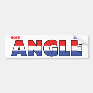 Vote Angle 2010 Elections Red White and Blue Bumper Sticker
