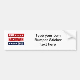VOTE BACHMANN 2012 - CAR BUMPER STICKER