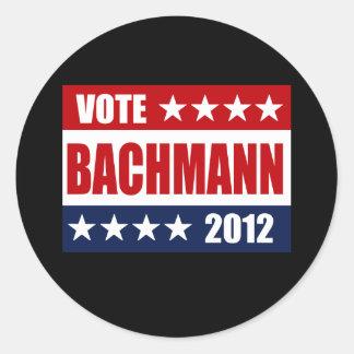 VOTE BACHMANN 2012 - ROUND STICKER