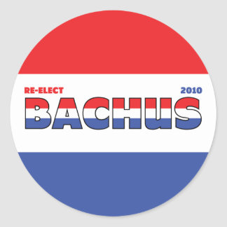 Vote Bachus 2010 Elections Red White and Blue Round Sticker