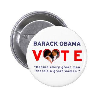 Vote Barack Obama For President 2012 Pins