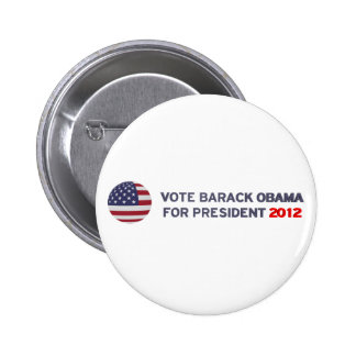 Vote Barack Obama For President 2012 Pin