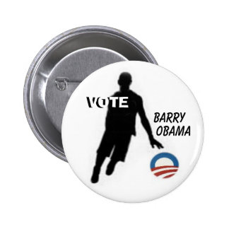 Vote Barry Obama Button