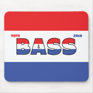 Vote Bass 2010 Elections Red White and Blue Mousepad