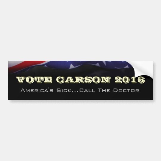 Vote Ben Carson 2016 Campaign Bumper Sticker
