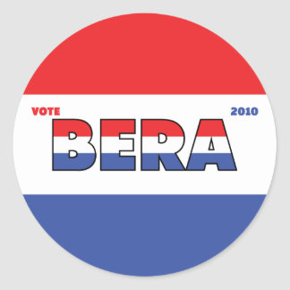 Vote Bera 2010 Elections Red White and Blue Sticker